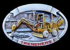 BIG TRUCK TRENCHER CONSTRUCTION EXCAVATOR BELT BUCKLE BELTS BUCKLES