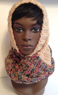 Tan Multi Color Infinity Scarf on Etsy, $35.00