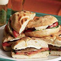 Grilled Portabella Sandwiches with Tomatoes, Mozzarella & Basil