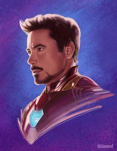 Tony Stark by edcarrascal on DeviantArt Marvel Dc, Marvel Comics, Hero Marvel, Tony Stark Wallpaper, Iron Man Wallpaper, Dark Wallpaper, Iron Man Drawing, Iron Man Art, Super Anime
