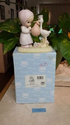 "PRECIOUS MOMENTS ""JOY ON ARRIVAL"" 523178 STORK W/ A BUNDLE OF JOY TO MOM/BV $105 in Collectibles, Decorative Collectibles, Decorative Collectible Brands, Precious Moments, Figurines, Other Precious Moments Figures 