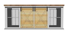 Barn Door Bar Cabinet With Ana White Grandy Sliding Door Console DIY Projects And Sliding 2011 With Barn Door Bar Cabinet Diy Sliding Barn Door, Sliding Door Hardware, Diy Barn Door, Sliding Glass Door, Sliding Doors, Barn Doors, Door Latches, Glass Doors, Diy Furniture Building