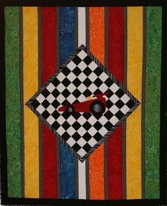The Race Car Quilt Pattern PAD-128e (advanced beginner, lap and throw)