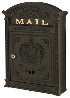 Ecco 6 Victorian Wall Mount Locking Mailbox
