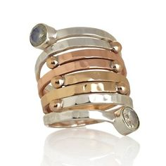 Take in treasures like this Himalayan Gems™ Tri-Metal Moonstone Wrap Ring at 1PM with @Colleen Sweeney Lopez's Designer Gallery #HSN
