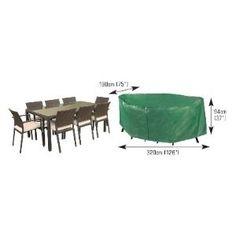 Rectangular Patio Set Cover - 8/10 seat Rattan, Garden Furniture, Furniture Design, Garden Power Tools, Garden Yard Ideas, Set Cover, Yard Design, Furniture Covers, Back Gardens
