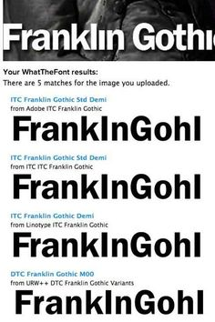 What the font! Upload pic of the font & it tells you what font it is!