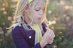Dandelion and little girl pose- by Holly Aprecio Photography, via Flickr