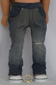 American girl doll clothes Boyfriend's Jeans by PurpleRoseNY
