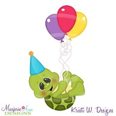 Turtle Images, Birthday Clipart, Paper Piecing Patterns, Digital Stamps, Animals For Kids, Cutting Files, Original Artwork, Card Making, Paper Crafts