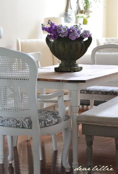 How We Updated Our Dining Room Chairs by Dear Lillie