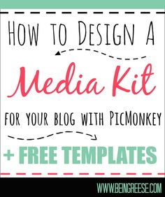 Blog promotion | How to Design a Free Media Kit for Your Blog + Premade Templates