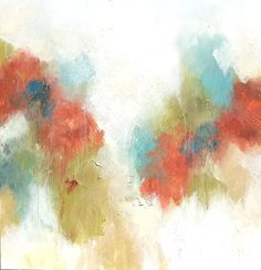 "Melissa Payne Baker,""Cotton Candy,"" mixed media on canvas, 36 x 36"