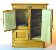 """Miniature """"White Clad"""" Doll House Ice Box - Museum Quality Miniatures - Shaker Works West"""
