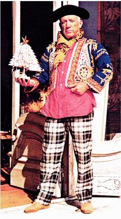 Pablo Picasso's Christmas bullfighter-lumberjack outfit
