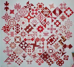 Farmer's Wife QAL - i love how this quilt makes the traditional, modern.