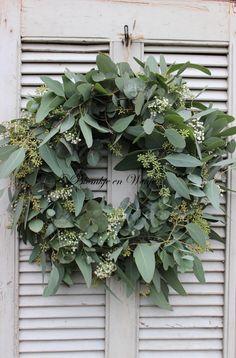 wreath eucalyptus baby's breath