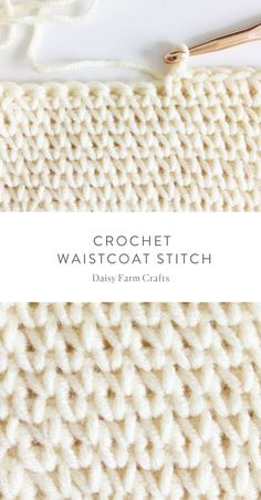 How to crochet the waistcoat stitch – How to Crochet the Knit Stitch (Waistcoat Stitch)Mary Kate Vest pattern by Kimberly K. McAlindinFree Crochet Stitch Tutorial for the Feather stitch. Crochet Motifs, Crochet Stitches Patterns, Knitting Stitches, Crochet Designs, Free Crochet, Knitting Patterns, Sewing Patterns, How To Crochet, Crochet Tutorials