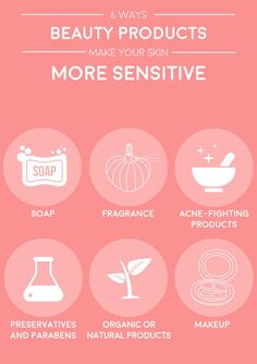 Your sensitive skin might not be a mystery after all. These face products like ones for acne or even natural cleansers could be to blame. Try changing up your beauty routine to help your sensitive skin.