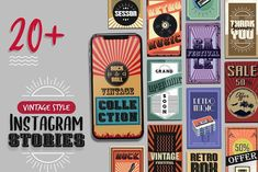 Vintage Style Instagram Stories by VictorThemes on @creativemarket
