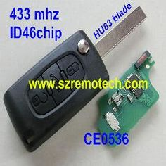[ 46% OFF ] Ce0536 New Flip Remote Key 3 Buttons 433Mhz Id46 Chip Fit For Peugeot 207 208 307 308 407 408 607 608 Car Alarm Fob Hu83 Blade
