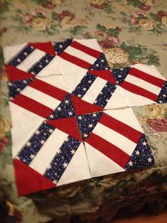 Great block for a Quilt of Valor.