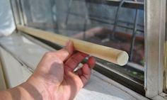 Use a wooden dowel or metal bar for sliding doors and windows so they can't be pried open. | 21 Cheap And Effective Tricks To Keep Your Home Safe