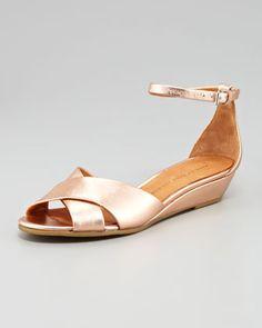 70bff75b9bf1c0  shoes  · Metallic Napa Wedge Sandal