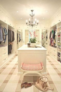 13 inspiring walk-in closets that will make you want to redo your wardrobe.