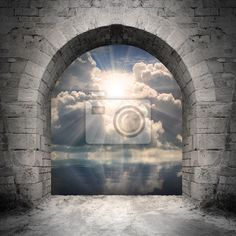"Wall Mural ""gate, door, enter - way to new world. new life concept - light over water."" ✓ Easy Installation ✓ 365 Day Money Back Guarantee ✓ Browse other patterns from this collection!"