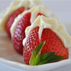 Stuffed Strawberries Allrecipes.com