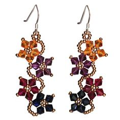 Shop for Handmade Sterling Silver Multi-colored Crystal Flower Earrings (USA). Get free delivery On EVERYTHING* Overstock - Your Online Jewelry Destination! Get in rewards with Club O! Bead Earrings, Flower Earrings, Crystal Earrings, Flower Bracelet, Gemstone Earrings, Custom Jewelry, Handmade Jewelry, Unique Jewelry, Beaded Jewelry Patterns