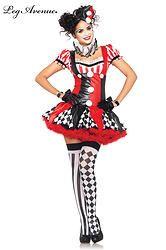 COSTUME 3 PIÈCES CLOWN ARLEQUIN  http://www.prod4you.com/#!costumes-deguisements-sexy/c1juw
