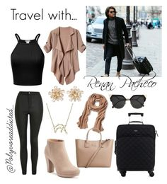 """Travel with Renan Pacheco ♡"" by anny24 ❤ liked on Polyvore featuring Topshop, LC Lauren Conrad, Bling Jewelry, New Look, Kate Spade, Banana Republic, MANGO and Fendi"