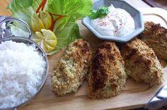Itämainen korianteri-kookoskana tandoori, riisin ja minttu jugurtin kanssa