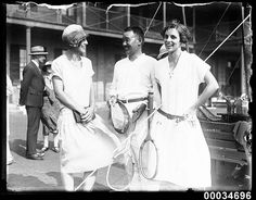 Entertaining visiting Japanese naval officers at a tennis party at Victoria Barracks, 26 January 1924 by Australian National Maritime Museum on The Commons, via Flickr