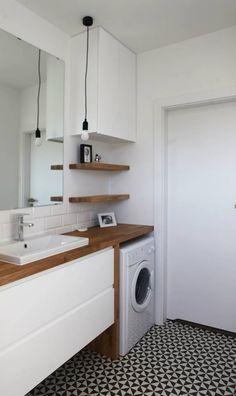 Waschmaschine Die beste LAGE Washing machine The best location machine Small Bathroom Ideas On A Budget, Bathroom Design Small, Bathroom Layout, Bathroom Interior Design, Modern Bathroom, Boho Bathroom, Simple Bathroom, Bathroom Colors, Bad Inspiration