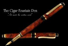 The Cigar style Fountain Pen by Swinford pens