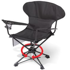 The Only Swiveling Portable Chair - Hammacher Schlemmer - This is the only portable chair that swivels 360º for optimal comfort and seated maneuverability.