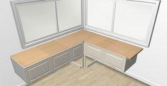 Eckbank/Landhausstil aus Küchenschränken/IKEA - meine Anleitung   Erfahrungen von Bauherren und Bauexperten Ikea Bank, Free Sewing, Cabinet, Storage, Furniture, Home Decor, Diy, Building Kitchen Cabinets, Dining Table Bench