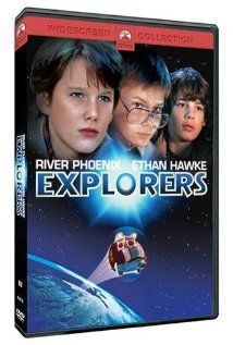 Explorers (1985)!  I used to love this movie and the little, green space kids, that watched too much TV! LOL