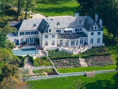 Love the grand scale of this house in New England Land Company, Greenwich, CT