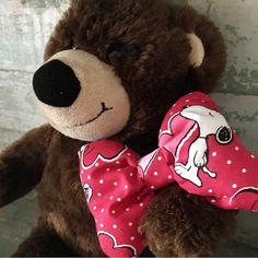Handmade Snoopy Valentine's Dog Collar Bow Tie