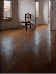 wood floors, empty house, chair Kenny Harris
