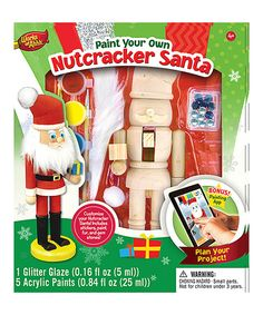Love this Paint Your Own Nutcracker Santa Set by Works of Ahhh... on #zulily! #zulilyfinds