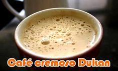 cafe cremoso dukan, dieta dukan, fase ataque Café cremoso Dukan  Ingredientes: Uma colher (sopa) café solúvel 200ml leite desnatado 85g de iogurte desnatado Modo de preparo: Bata tudo no liquidificador e adoce com a quantidade de adoçante que achar necessário.