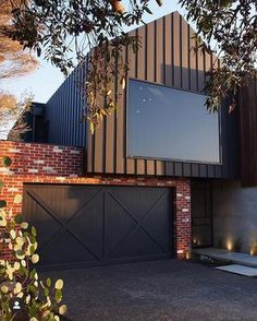 Archclad is the market leader for wall cladding in Melbourne specialising in, aluminum, metal, zinc, copper and specialised metals. Call us on 1300 CLADDING Exterior Wall Cladding, Brick Cladding, House Cladding, Facade House, Zinc Cladding, Modern Barn House, Modern House Facades, Modern House Design, Door Gate Design