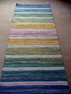 This is not twined, but I love the colors and pattern. I could do something similar to this by twining. Sätergläntan Rag Mat by Veronica Moen