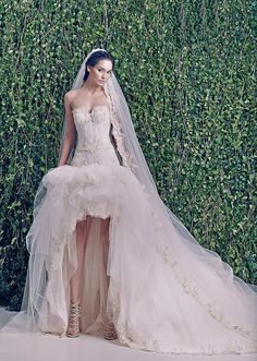 Zuhair Murad wedding dresses bridal collection F/W 2014-2015; lace & tulle with built-in corset & victorian inspired gown