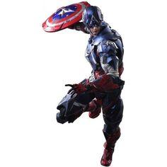 Marvel Universe : Captain America Play Arts Kai Action Figure